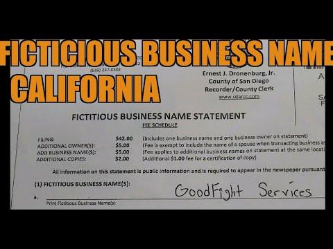 EP: 27 DBA / Fictitious Business name California