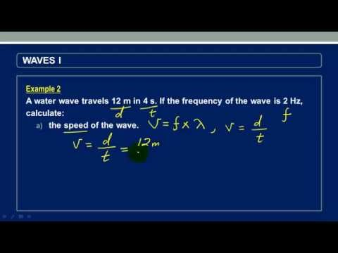 Calculating speed and wavelength of a wave given distance and time