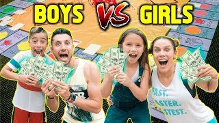 Download GIANT BOARD GAME CHALLENGE!! WINNER GETS $10,000!!! (BOYS VS GIRLS) | The Royalty Family Video