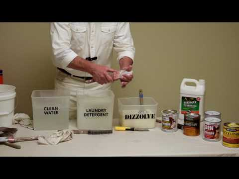 5. How to Clean 3-day Dry Oil-based Paint from a Brush with Dizzolve