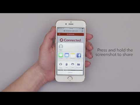 How to take and share a screengrab on an iPhone