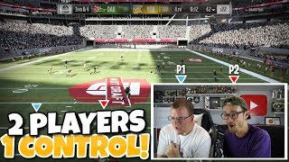 2 PLAYERS 1 CONTROLLER CHALLENGE?? - THIS GAME WAS CRAZY!! Madden 19