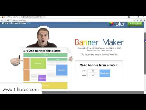 how to make a banner for my website for free