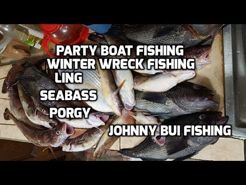 Winter Wreck Fishing for Ling, Sea Bass, Porgy - Party Boat NJ