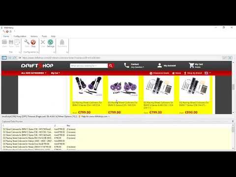 Data extraction from driftshop.com using Webharvy