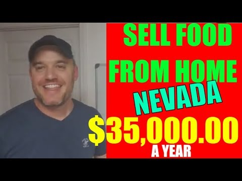 Nevada cottage kitchen law selling food from MAKE $35,000  a YEAR