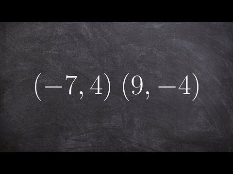 Given two points find the equation of the line using point slope