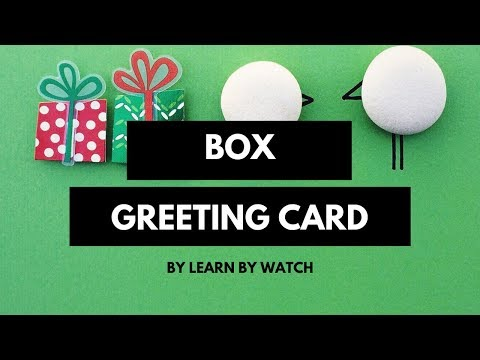 Make Awesome Box Greeting Card at Home   Learn By Watch