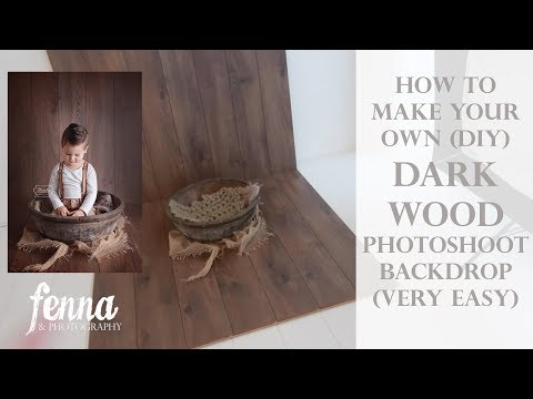 How to make a simple dark wood photography backdrop - newborn baby sitter photoshoot