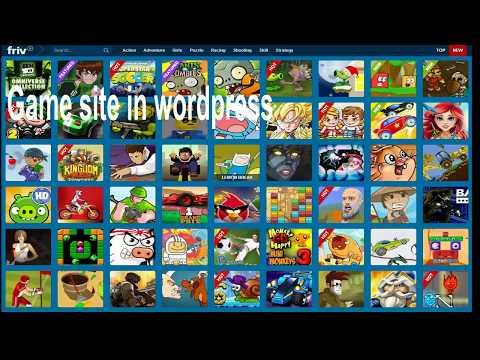 Create flash gaming site in wordpress