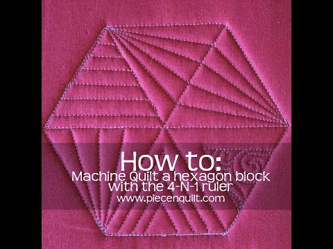 How To: Machine Quilt a Hexagon Quilt Block