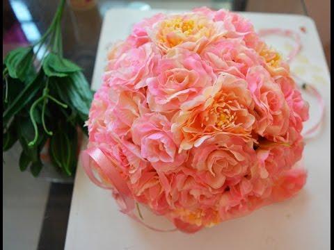 DIY Flower ball for decoration :)