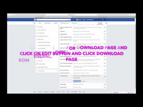 HOW TO DOWNLOAD A COPY OF YOUR FACEBOOK PAGE