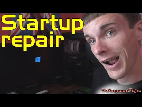 How to run startup repair in Windows 8.1 or 10 - FIX WINDOWS NOT BOOTING