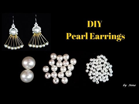 How to make stylish earrings.  You won't believe what these earrings are made with