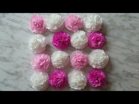 How to make wedding flowers. Coffee filters flowers tutorial