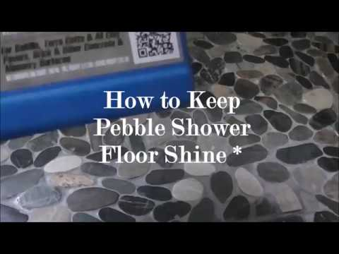 How to keep Pebble Shower Floor Shine.  No Mildew