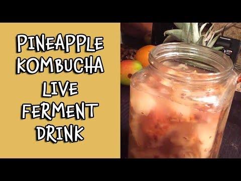 Pineapple Kombucha Live Ferment Drink | Dr. Robert Cassar