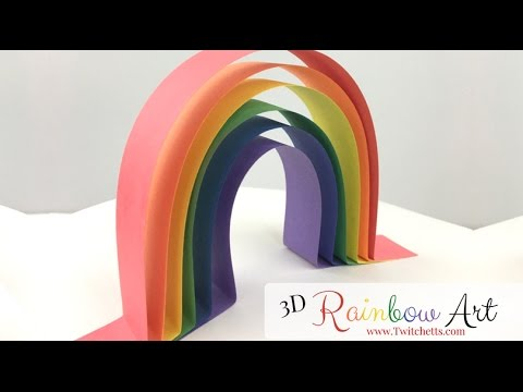 Construction Paper Crafts for Kids ~ Paper Strip Rainbows