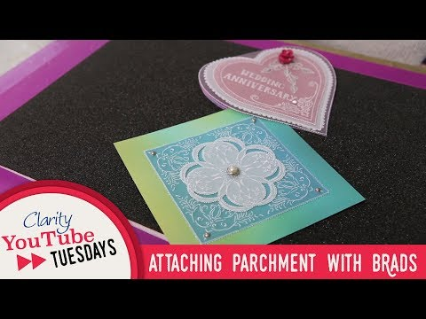 Groovi How To - Attaching Parchment with Brads