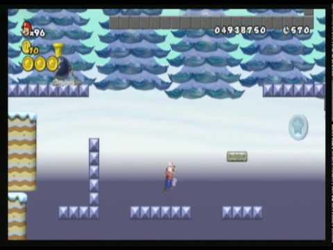 New Super Mario Bros. Wii custom level - Ice Climber