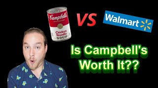 Campbell's Chicken Noodle Soup Taste Test Challenge! Is It Worth It?