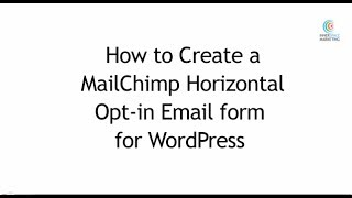 Wordpress How To Make Horizontal Mailchimp Web Form With First Name A