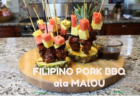 FILIPINO STYLE PORK BARBECUE ON A STICK