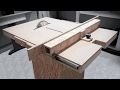Homemade Table Saw Fence Mechanism