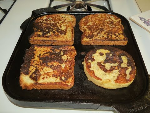 How to Make French Toast on the Cast Iron Griddle~Easy Breakfast Recipe