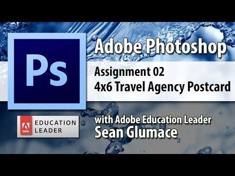 Video 03 4x6 Travel Agent Postcard - CIS20 Adobe Photoshop