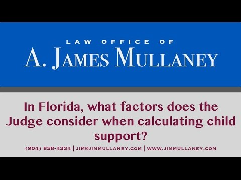 In Florida, what factors does the Judge consider when calculating child support?