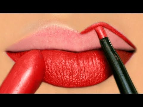 How To Apply RED Liquid Lipstick Perfectly - Makeup Tutorials for Beginners | Anaysa