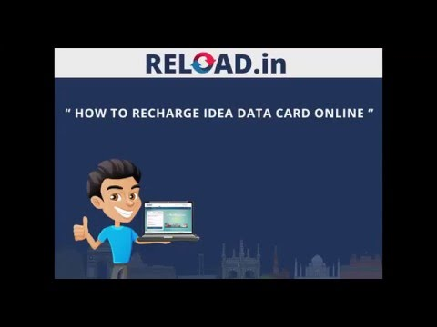 Idea Data Card Recharge with Reload.in