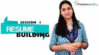 Resume Building For Freshers Part 1 Sample Resume Format Resume Writi