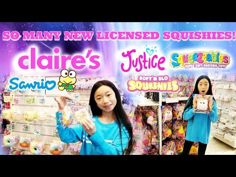 SO MANY NEW LICENSED SQUISHIES AT CLAIRE'S and JUSTICE! New Hello Kitty Friends Squishies & More!!!