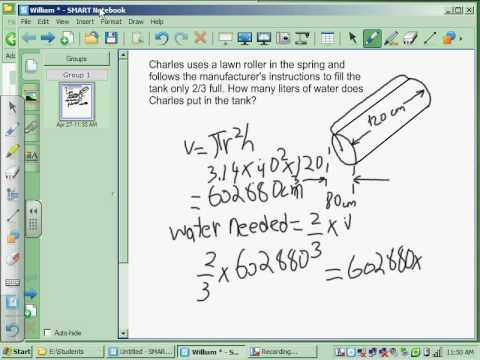 Calculate the Volume of Water in a Cylinder by William