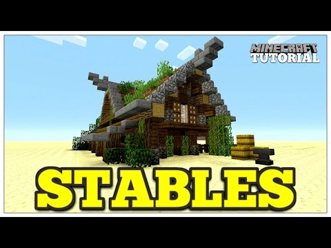 Minecraft: How To Build A Stables | Medieval Horse Stables | Medieval Tutorial