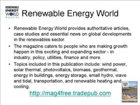 Renewable Energy World - Free Magazine Subscription