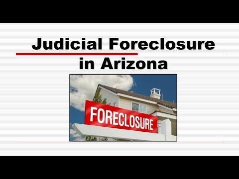 Judicial Foreclosure in Arizona Real Estate License Exam Prep