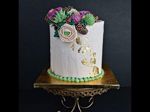 Buttercream FLower Tutorial Part 2 of 2: Assembling the CAKE!!