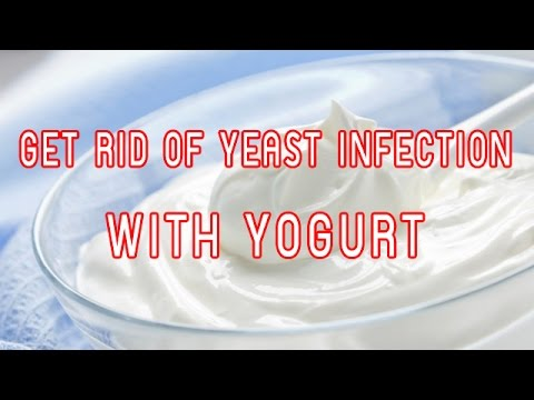 How to get rid of a yeast infection with yogurt
