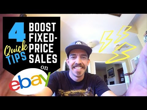 4 Easy Tips to Boost eBay Fixed Price Listing Sales