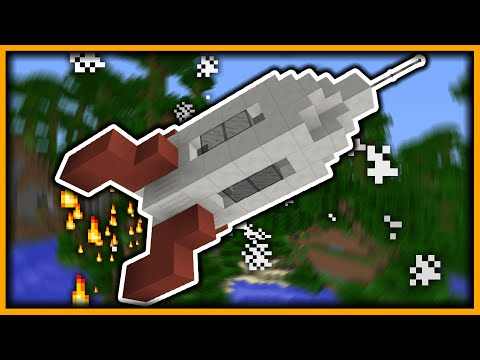 How to Make a Rocket Ship in Minecraft (Vanilla 1.9 - 1.10)