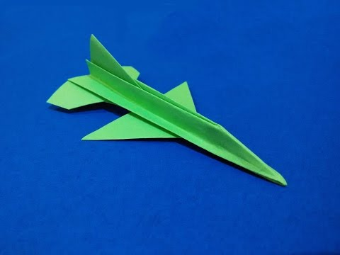 Origami F-16 Falcon Tutorial -  Flying model. Paper Airplane that Flies