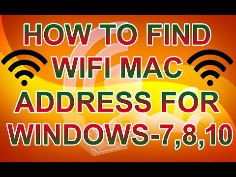HOW TO FIND LAPTOP/DESKTOP WIFI MAC ADDRESS FOR WINDOWS 7,8,10