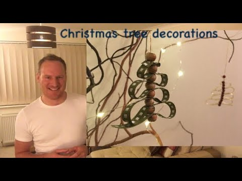 How to make ribbon Christmas tree decorations