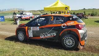 Alexey Lukyanuk / Alexey Arnautov Citroen C3 R5 launch SS10 Rally Poland 2019