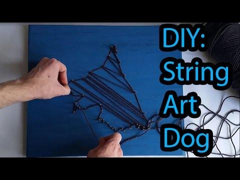 How to make a DIY Dog String Art Portrait