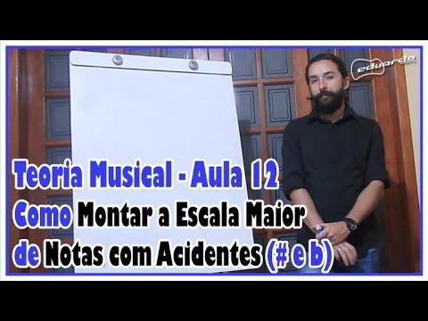 Curso de Teoria Musical - Aula 12: Como Montar a Escala Maior das Notas com Acidentes l Aula #95